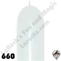 660B Link-O-Loon Fashion White 50ct