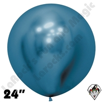 Betallatex 24 Inch Round Reflex Blue Balloon 10ct