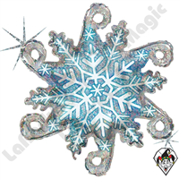 Betallic 38 Inch Shape Linky Snowflake Holographic Foil Balloon 1ct