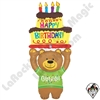 60 Inch Shape Special Delivery Birthday Bear Foil Balloon Betallatex 1ct