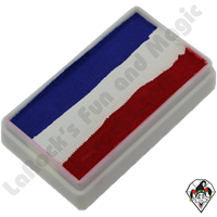 TAG 30 Gram 1 Stroke Patriotic Red  White & Blue Split Cake