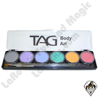 TAG Pastel Palette 6 x 10g Face and Body Art Paint