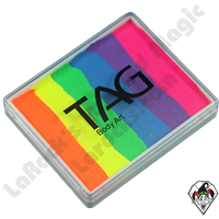 TAG Split Cake Rainbow Neon 50 Gram Face & Body Art Paint