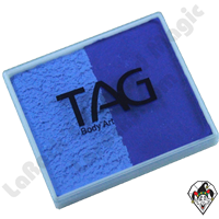 TAG Split Cake Powder Blue and Royal Blue Regular 50 Gram Face & Body Art Paint