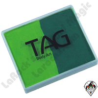 TAG Split Cake Light Green and Green Regular 50 Gram Face & Body Art Paint