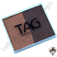 TAG Split Cake Brown and Mid Brown Regular 50 Gram Face & Body Art Paint