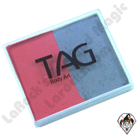 TAG Split Cake Soft Grey and Pink Regular 50 Gram Face & Body Art Paint