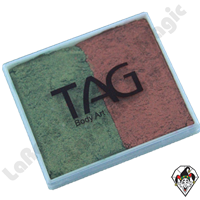 TAG Split Cake Bronze and Green Pearl 50 Gram Face & Body Art Paint