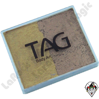 TAG Split Cake Old Gold and Gold Pearl 50 Gram Face & Body Art Paint