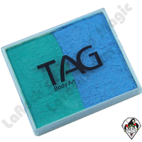 TAG Split Cake Teal & Sky Blue Pearl 50 Gram Face & Body Art Paint