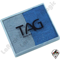 TAG Split Cake Blue and Silver Pearl 50 Gram Face & Body Art Paint