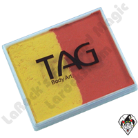 TAG Split Cake Orange & Yellow Pearl 50 Gram Face & Body Art Paint