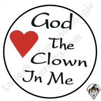 Stickers | Albert Stickers | God Loves The Clown In Me