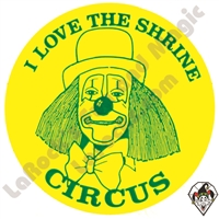 Stickers | Albert Stickers | I Love the Shrine Circus Stickers