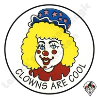 Clowns Are Cool Stickers