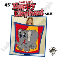 David Ginn's 45 Inch Happy Elephant Silk