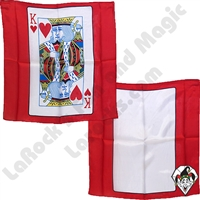 Magic | PACKET TRICKS | Card Silks | 18 inch Red