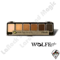 Face-Painting | Wolfe | 6 Color Palettes | 6 Pack Skinz Color Palette