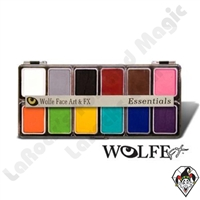 Face-Painting | Wolfe | 12 Color Palettes | 12 Pack Essential Color Palette