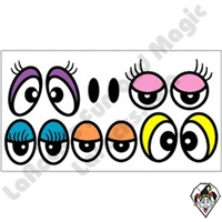 Eyeball Stickers Color