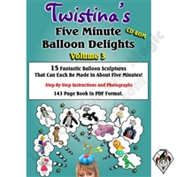 Videos, DVD, & CDs | DVDS | Twistina's Volume 3 CD 5 Minute Balloons