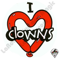 I Love Clowns Stickers