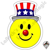Smiley Patriotic Face Stickers