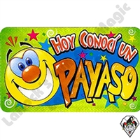 I Met A Clown Spanish Stickers Hoy Conoci Un Payas
