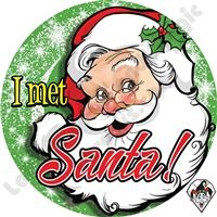 I Met Santa Stickers by Angel