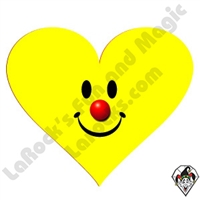 Smiley Clown Heart Stickers
