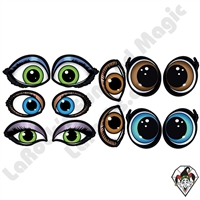 Princess Eye Stickers Colored