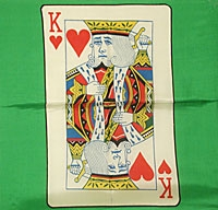 Magic | PACKET TRICKS | Card Silks | 12 inch Green