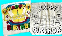 New Stuff | 11-22-11 | 11-23-11 | SILK PRINTED | Happy Birthday Set of Silks