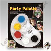 Face-Painting | Mehron Face Paint | Brushes | Fantasy F/X Party Palette