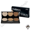 Mehron Highlight Pro Warm 3 Shade Palette