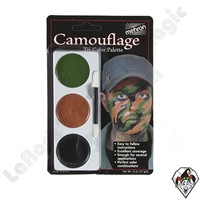 Tri-Color Camouflage Make-Up Palette Mehron