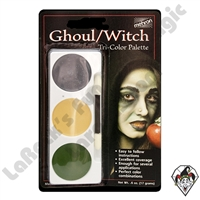 Tri-Color Ghoul/Witch Make-Up Palette Mehron