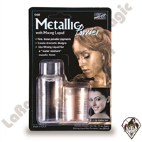 Metallic Powder Gold with Mixing Liquid by Mehron