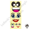 Cartoon Face Stickers 4 Faces 10 Sheets