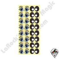 Cartoon Eye Stickers 10 sheets 16 Pair Per Sheet