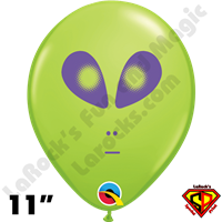 Qualatex 11 Inch Round Alien Lime Green Balloons 50ct