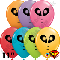 Qualatex 11 Inch Round Alien Festive Assortment Balloons 50ct