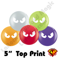 Qualatex 5 Inch Round Assortment Evil Eyes Top Print Balloons by Juan Gonzales 100ct