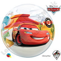 22 Inch Disney-Pixar Lightning McQueen & Mater Bubble Qualatex 1ct