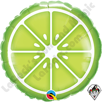 18 Inch Round Sliced Lime Foil Balloon Qualatex 1ct.