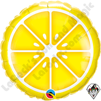 18 Inch Round Sliced Lemon Foil Balloon Qualatex 1ct.