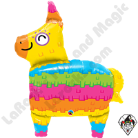 34 Inch Shape Rainbow Pinata Foil Balloon Qualatex 1ct