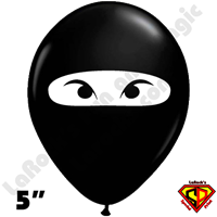 Qualatex 5 Inch Round Ninja Black Balloons 100ct
