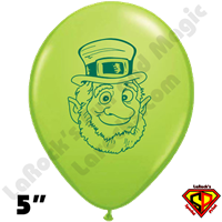 Qualatex 5 Inch Leprechaun Lime Green Balloons 100ct