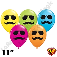 Qualatex 11 Inch Round Mr Cool Assortment Balloonss